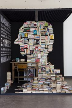 book sculptures - idea for a possible collaboration between one of my classes and the library