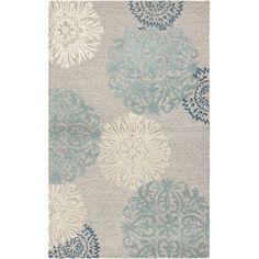 Wildon Home ® Amerique Floral Hand Tufted Light Gray Area Rug & Reviews   Wayfair