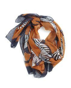 zebra printed scarf