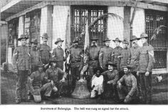 Photo showing the survivors from Company C of the attack at Balangiga, September 1901 (found in R.R. Donnelley & Sons Co, 1909)     ushistoryscene.com