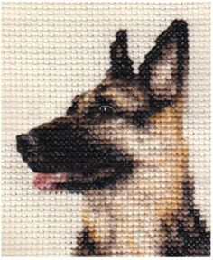Cross Stitch Pattern - german shepherd dog