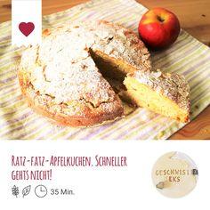 Rezept Ratz-fatz-Apfelkuchen. Schneller gehts nicht! vom Foodblog Geschwister Keks