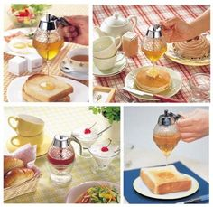 5Pcs HONEY POT DIPPER Bee Jug Breakfast Jam Syrup HONEY DRIZZLER