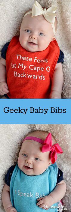 Housewife Eclectic: Geeky Baby Bibs