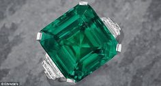 Perfection: A flawless Colombian emerald once owned by the legendary Rockefeller family so...