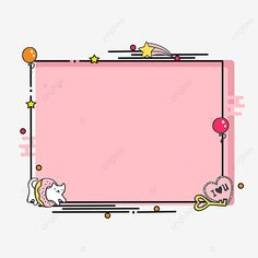 Cute Boarders, Frame Border Design, Watercolor Flower Background, Powerpoint Background Design, Cute Clipart, Simple Doodles, Cute Patterns Wallpaper, Bullet Journal Ideas Pages, Kawaii Wallpaper