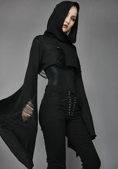 Widow Darkest Hour Crop Sweater at Dolls Kill