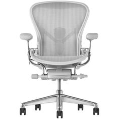 Buy Herman Miller Aeron Office Chair, Mineral/Polished Aluminium, Size C, x x from our Office Chairs range at John Lewis & Partners. Herman Miller Aeron Chair, Miller Homes, Best Office Chair, Co Design, Ergonomic Chair, Chair Backs, Mesh Material, Home Collections, Chair Design