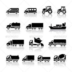 16 Transport Icons — Photoshop PSD #transport #tipper • Available here → https://graphicriver.net/item/16-transport-icons/4278637?ref=pxcr