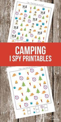 Super Fun Camping Themed I SPY Printables For Kids My daughter loves these. Camping is a wonderful memory factor. Bring it to your school with this fun camping I can spy on and your kids will not realize they are learning. Printable Activities For Kids, Outdoor Activities For Kids, Preschool Printables, Summer Activities, Preschool Activities, Preschool Camping Activities, Free Printables, Preschool Workbooks, Motto