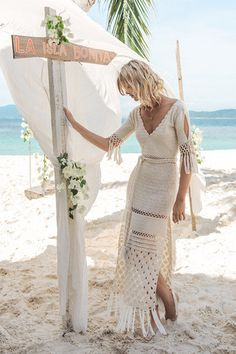 Palm Springs Crochet Maxi - Off White