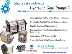 What are the qualities of hydraulic gear pumps?