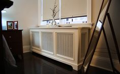 Back Bay Style Radiator Cover Living Room Home Radiators, Interior Design Living Room, Interior Decorating, Decorating Ideas, Home Improvement Contractors, Radiator Cover, House And Home Magazine, My Living Room, Old Houses