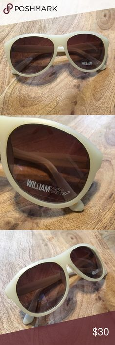 William Rast Sunglasses William Rast Sunglasses, brand new, sticker still on lenses. A Glasses USA Case is included, as pictured. Color is similar to a pearly white with brown tint lenses. NO Trades. William Rast Accessories Sunglasses