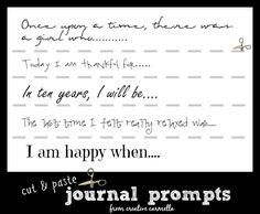 Creative Journaling Tips & Printable Writing Prompts