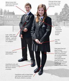 #Schuluniform Regeln an einer Schule in Großbritannien ---- #School_uniform rules at a British school - http://www.kingdown.wilts.sch.uk/wp-content/uploads/2013/05/Uniform-20131.jpg