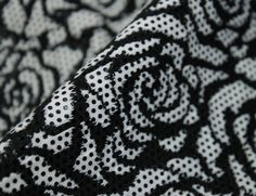 Roses & Dots Jersey Fabric - WeaverDee.com Sewing & Craft Gorgeous Fabrics, Sewing Crafts, Roses, Black And White, Pattern, Cotton, Accessories, Shop, Fashion