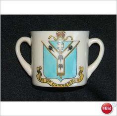 Carlton China Crested 2 Handled cup Canterbury Crest (CR062) on eBid United Kingdom