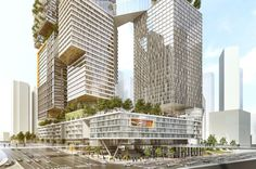Kaplan North Masterplan by Kimmel Eshkolot Architects | Tel Aviv | Israel | Future Projects 2016 | WAN Awards #wanawards #architecture #urbandesign #highrise