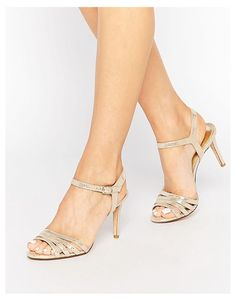 024a7666fbe Dune Gold Metallic Maci Strappy Sandals at asos.com. Metallic  SandalsStrappy SandalsOpen Toe SandalsGold HeelsShoes ...