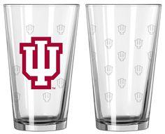 Indiana Hoosiers Satin Etch Pint Glass Set