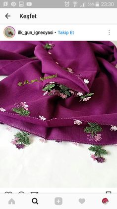 This Pin was discovered by Zel Needle Lace, Needlework, Elsa, Diy And Crafts, Brooch, Embroidery, Crochet, Towels, Dressmaking