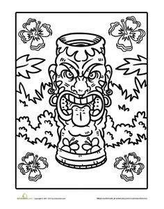 hawaiian language coloring pages - photo#15
