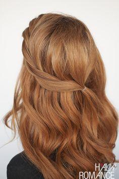 Hair Romance - twistback hair style tutorial