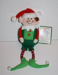 """New with tag Santa's Little Helper ELF Plush from Ganz. Item number STX2002. Great for Xmas Tree or Shelf Holiday Decoration About 9"""" #Ganz #Christmas"""
