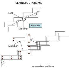Decor Units: Staircase Design & Construction Information Concrete Staircase, Floating Staircase, Modern Staircase, Home Stairs Design, Interior Stairs, Home Design Plans, Architecture Blueprints, Stairs Architecture, Stair Plan