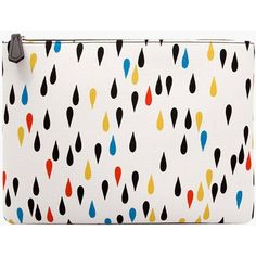 Water Drop Pattern Woman Clutch Mini White Bags vovobag ($26) ❤ liked on Polyvore featuring bags, handbags, clutches, vovobag, white handbags, miniature purse, mini pochette, white clutches and print handbags