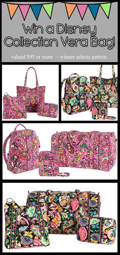 Win a NEW Disney Pattern Vera Bradley Bag!!