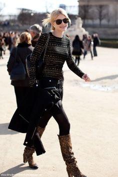 Jessica Stam - Street Fashion & Street Style - feed me fashion