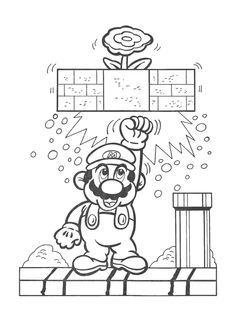 Coloring Pages Super Mario Coloring Pages, Easy Coloring Pages, Coloring Sheets For Kids, Disney Coloring Pages, Animal Coloring Pages, Free Coloring, Coloring Books, Super Mario Bros, Vanellope Y Ralph