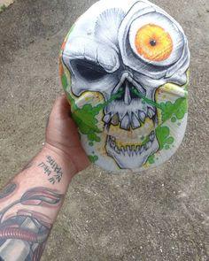 #customcaps #madeinfrance #collab #hatrack #gomjahrash #Best #skull #bigeyes #base #neweracaps  #tattoo #biomechanical #by #eskimo #eskimotattoo #art #madeintoulouse  #skate #bmx #fmx #surf #wakeboard #style #freestyle