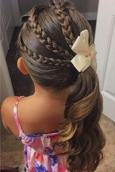 childrens hairstyles for school cute hairstyles for school easy quick hairstyles for school hairstyles for kids kids hairstyles for girls simple hairstyle for school girl easy little girl hairstyles black easy hairstyles for kids step by step Little Girl Haircuts, Little Girl Braids, Girls Braids, Side Braids, Braids For Little Girls, Girl Hair Braids, Little Girls Makeup, Cornrows Hair, Side Ponytails