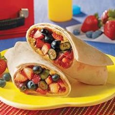 Very Berry Delicious Burrito With Burrito Size Flour Tortillas, Jif Peanut Butter, Strawberry Jam, Fresh Blueberries, Strawberries Fruit Recipes, Mexican Food Recipes, Whole Food Recipes, Snack Recipes, Burrito Recipes, Healthy Recipes, Jif Peanut Butter, Homemade Peanut Butter, Vegetarian Breakfast Recipes
