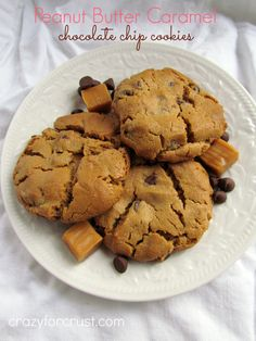Peanut Butter Chocolate Chip Surprise Cookies (12 Weeks of Christmas Cookies) - Crazy for Crust