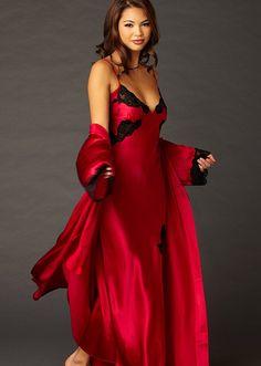 Best Seller Le Tresor Silk Gown - She'll sparkle brighter than the… Jolie Lingerie, Satin Lingerie, Pretty Lingerie, Satin Gown, Silk Gown, Satin Dresses, Silk Satin, Silk Skirt, Long Silk Nightgown