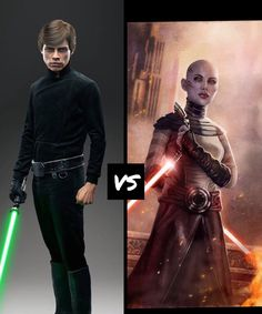 Luke skywalker vs Assaj ventress. Comment who you think would win and why. (All rights go to the original owners)