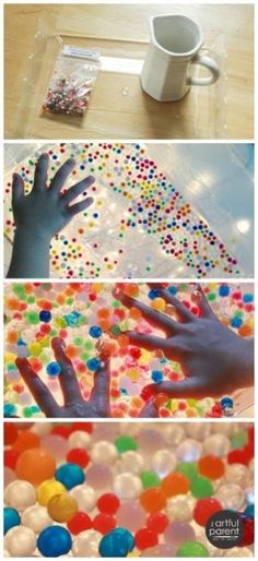 What to do with water beads... So many fun ideas! Have you tried water beads with your kids yet? by karla