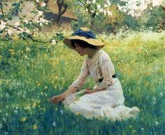 Arthur Hacker, Spring Flowers