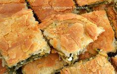 Ένας συνδυασμός που δίνει τέλεια αποτελέσματα! Έχω ξαναγράψει πόσο εκτιμώ τις «πανωμερίτικες» πίτες φούρνου. Αν στις πίτες τηγανιού είμαστε ειδικές στην Κρήτη, στις πίτες φούρνου εγώ τουλάχιστον βγάζω το καπέλο στις «πάνω από αυλάκι» νοικοκυράδες! Είχα βλέπετε την τύχη να έχω μια πεθερά που έπαιζε στα δάκτυλά της … Filo Pastry, Savory Pastry, Greek Recipes, Wine Recipes, Cooking Recipes, Brunch, Greek Cooking, Almond Cookies, Recipe Boards