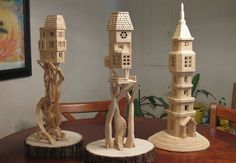 Self-taught artistBob Morehead has crafted an intricate and labyrinthian cityscape using nothing more than wood glue and basic toothpicks—over 300,000 of them. Weighing around 50 pounds at over eight