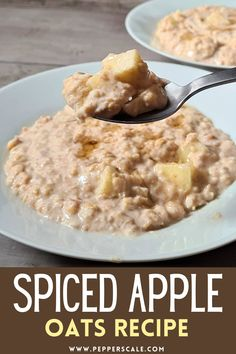 Spiced apple oats are the kind of breakfast dish that will keep you warm all winter long. People have been enjoying oats as a staple food for thousands of years. And for good reason – they are not only nutritious, but also an amazing base for culinary fun. #spicedapple #apple #oats #spicedappleoats #spicedapplesteelcutoats #spicedappleovernightsoats Chipotle Recipes, Spicy Vegetarian Recipes, Healthy Egg Recipes, Vegetarian Appetizers, Best Breakfast Recipes, Breakfast Dishes, Brunch Recipes, Breakfast Bars, Apple Oat Recipes