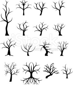 Tree trunks royalty-free stock vector art