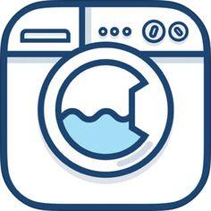 Laundry Day - Care Symbol Reader by Jan Plesek Laundry App, Laundry Logo, Laundry Design, Blank Quotes, Icon Design, Logo Design, Laundry Business, Illustrator, Vintage Laundry