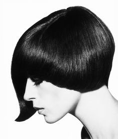 Vidal Sassoon's iconic haircuts - A lopsided asymmetric cut from the 60s created by Sassoon stylist Roger Thompson