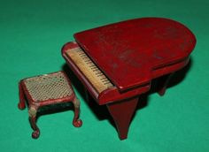 Westacre Red Lacquer Chinoiserie Piano & Stool 1920's | eBay