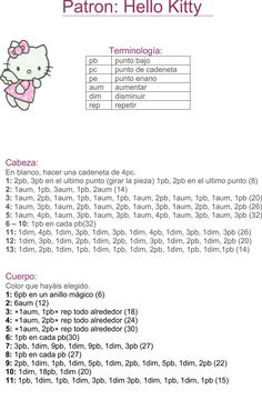 Tutorial: hello kitty bailarina tejida a crochet (amigurumi) - Hello kitty ballet dancer Crochet Keychain Pattern, Crochet Doll Pattern, Crochet Patterns Amigurumi, Crochet Blanket Patterns, Crochet Dolls, Crochet Crafts, Crochet Projects, Hello Kitty Keychain, Hello Kitty Crochet